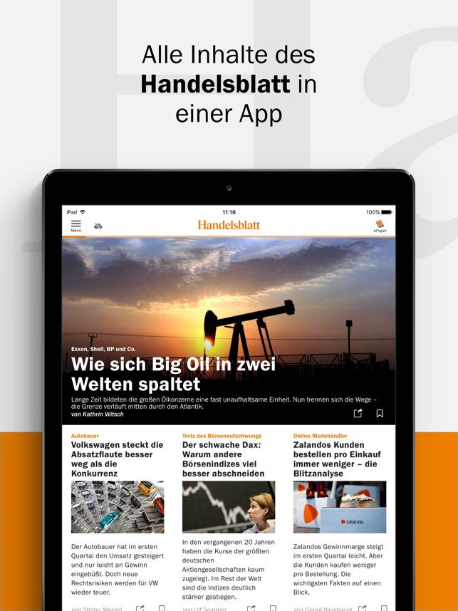 Handelsblatt - Nachrichten Screenshot