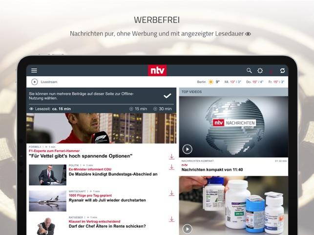 ntv Nachrichten Screenshot
