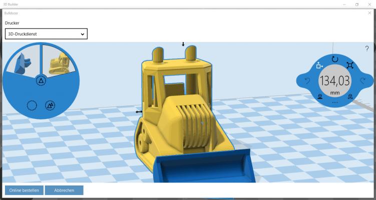 3D-Builder-Bulldozer-3D Druck
