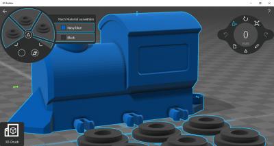 3D-Builder-Eisenbahn