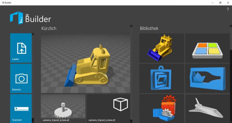 3D-Builder-Modellübersicht