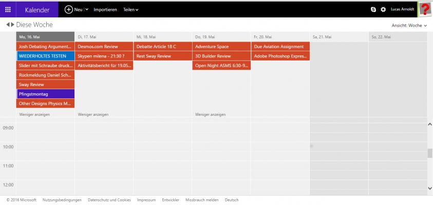 Kalender-Wunderlist-Integration