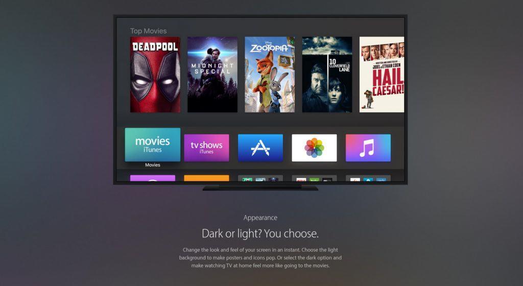 tvOS bekommt neue Funktionen. Unter anderem einen Dark Mode.