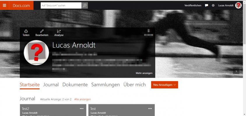 Docs.com - Profil
