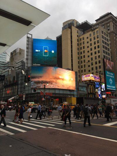 Google macht auch in New York Werbung für das Event. Quelle: reddit