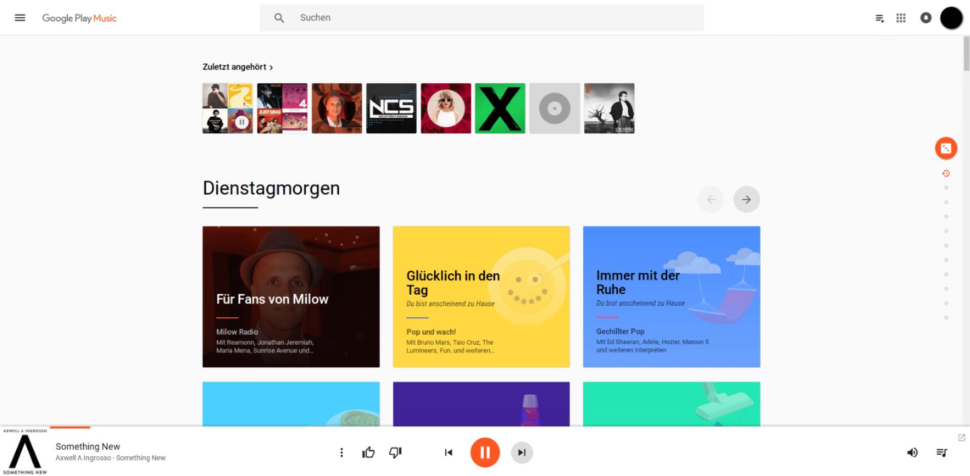 Google Play Musik im Browser - Apps: Siehe oben.