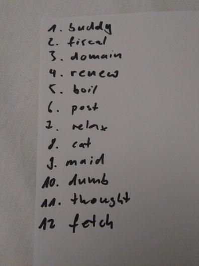 Der Recovery Phrase sollte auf einem Blatt Papier notiert werden und geheim gehalten werden