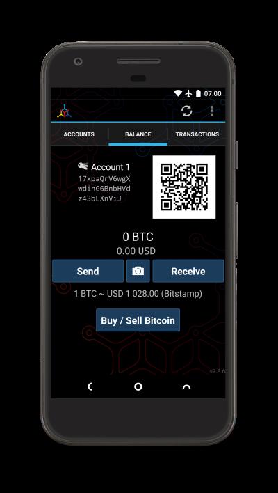Das Mycelium Android Wallet