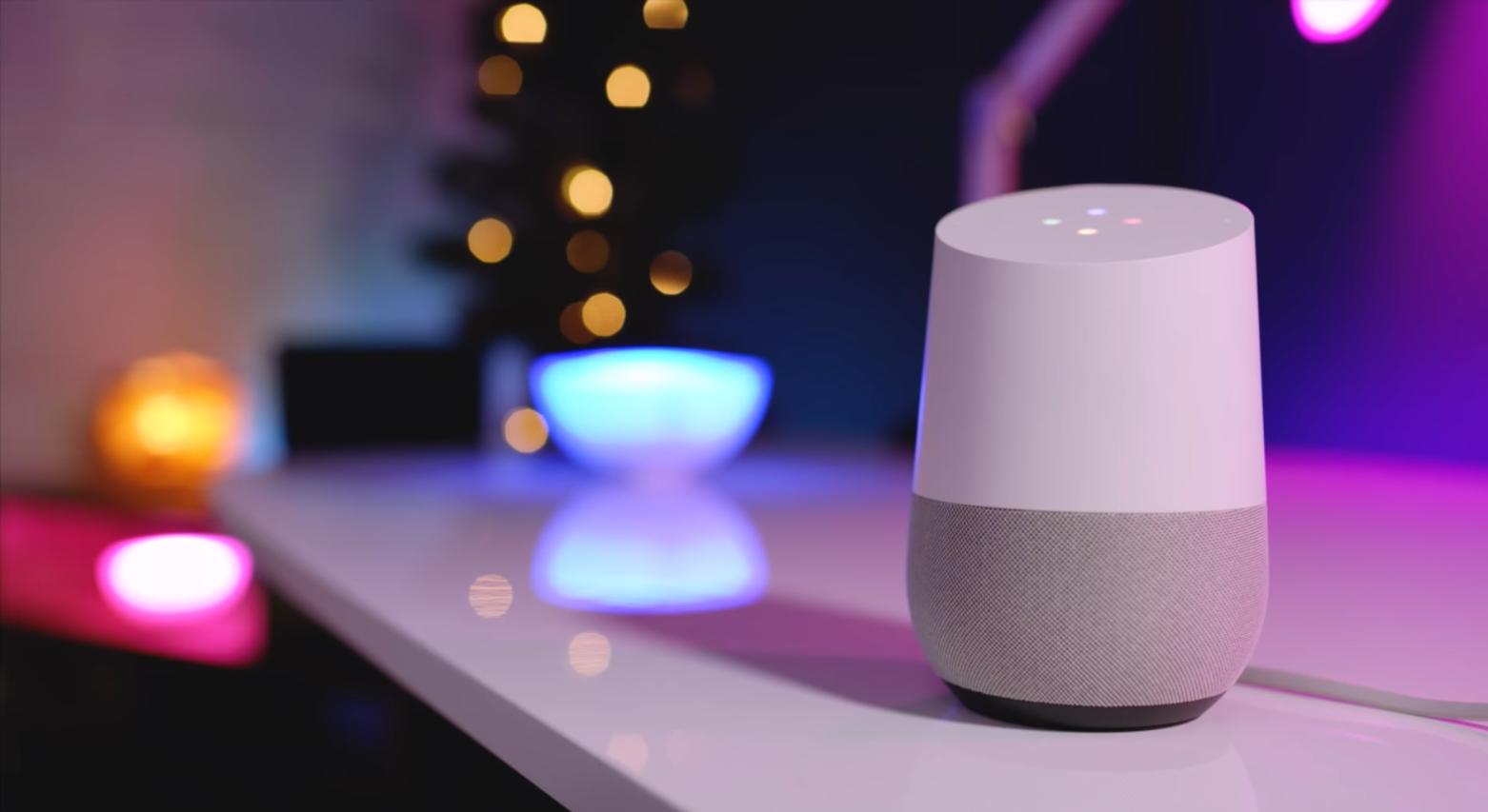 Philips Hue mit Google Home Lautsprecher