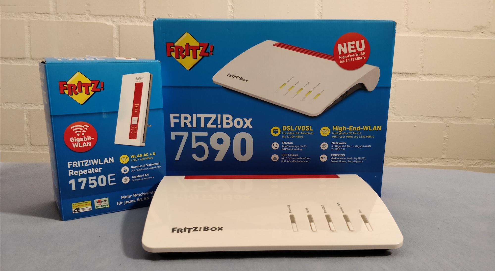 FRITZ!Box 7590 und FRITZ!Repeater 1750E im Langzeittest