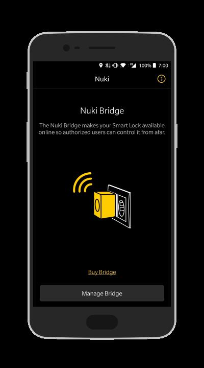 Der Assistent zum Hinzufügen einer Nuki Bridge.