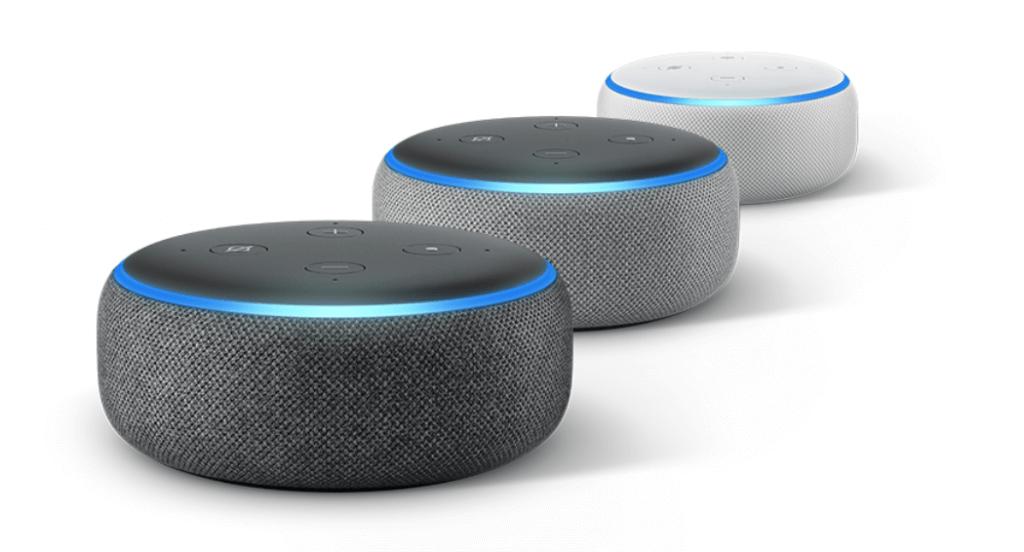 Echo Dot in verschiedenen Farben