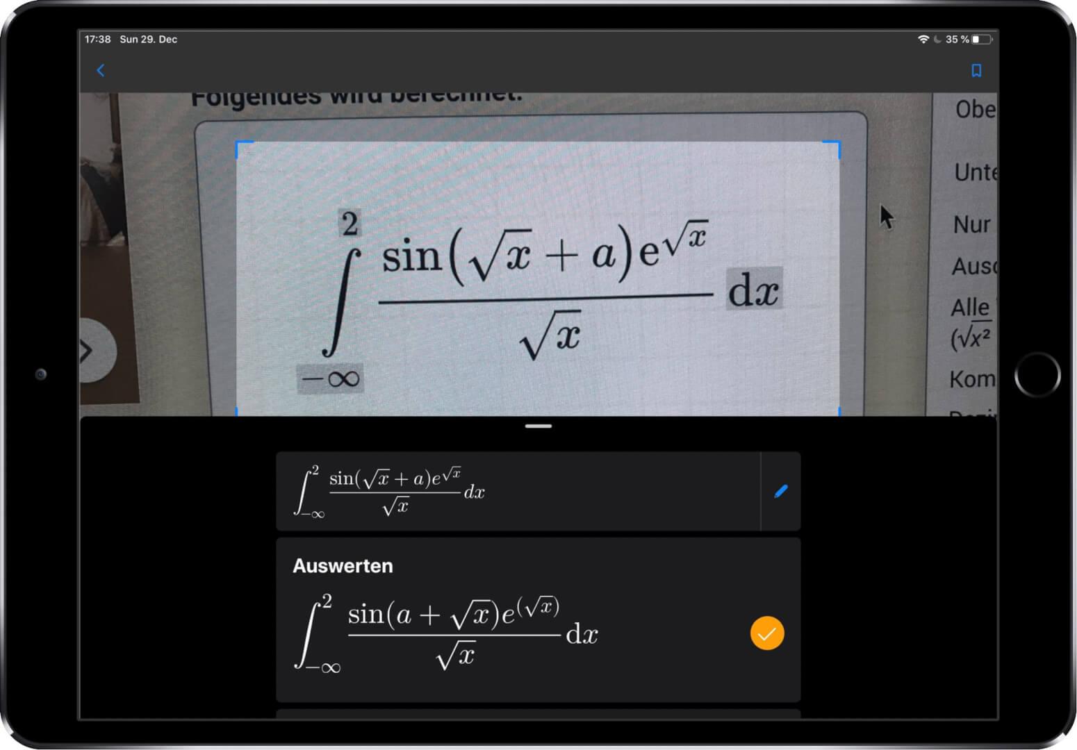 Bilderkennung Math Solver