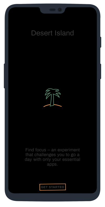 desert island dark mode