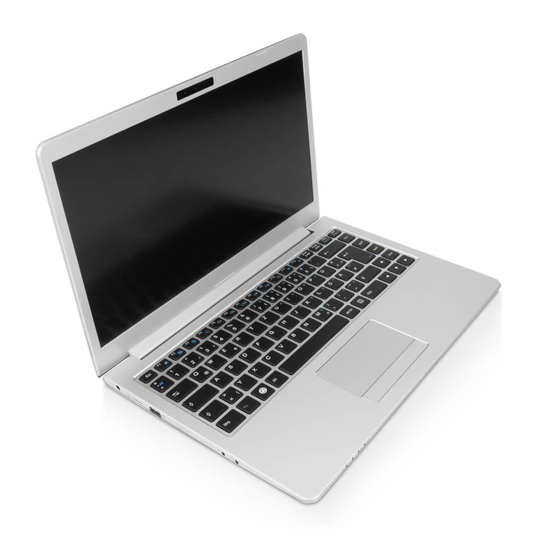 InfinityBook Pro 14 v5 mit TUXEDO OS (Linux-Taste auf Tastatur)