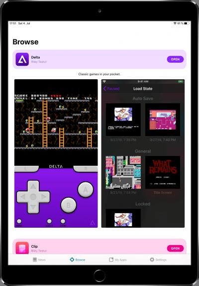 AltStore Startseite