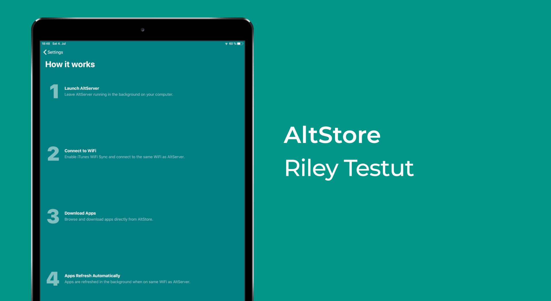 AltStore, Riley Testut Banner